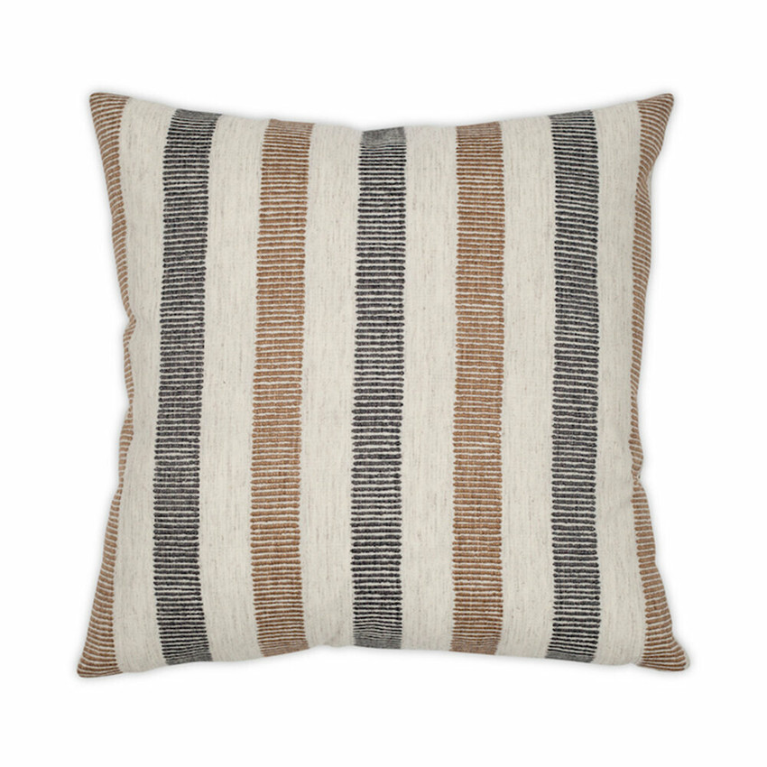 Moss Home Knotted Stripe Pillow, trend throw pillow, accent pillow, decorative pillow,  knotted stripe trend pillow in charcoal
