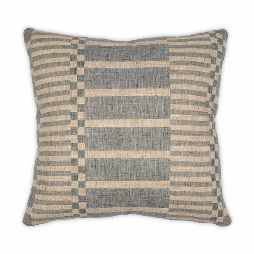 Moss Home Kingston Pillow, trend throw pillow, accent pillow, decorative pillow,  kingston trend pillow in blue