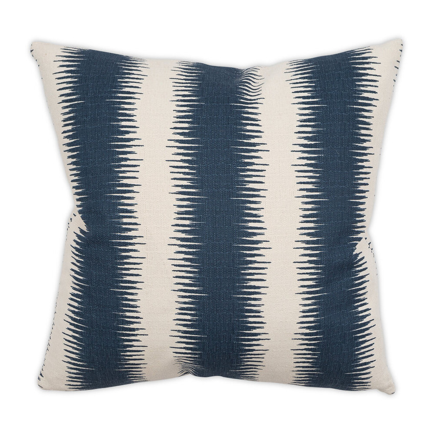 "Moss Home Soundwaves PIllow, 22"" throw pillow, accent pillow, decorative pillow, soundwaves pillow in indigo"