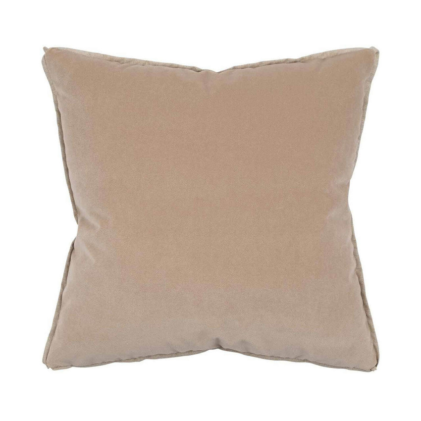 Moss Home Banks Pillow in Oatmeal, velvet throw pillow, accent pillow, decorative pillow