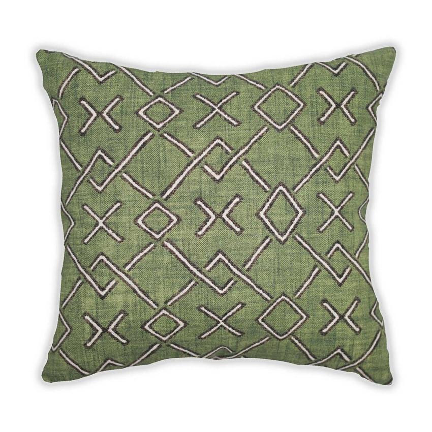 Moss Home Hugs N Kisses Pillow,  trend throw pillow, accent pillow, decorative pillow, hugs n kisses pillow in fern green