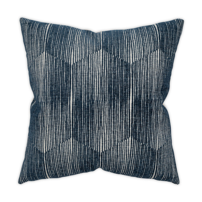 Moss Home  Stereo Pillow, throw pillow, accent pillow, stereo throw pillow in indigo