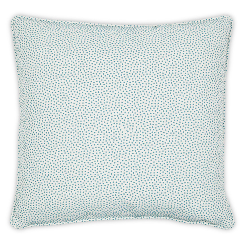 "Moss Home Dotted 22"" Pillow in Aqua, 22"" throw pillow, accent pillow, decorative pillow"