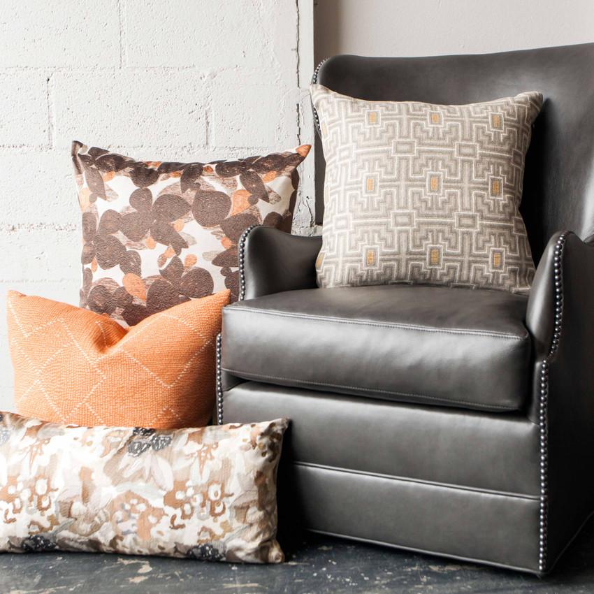 "Moss Home Empire 22"" Pillow, 22"" throw pillow, accent pillow, decorative throw pillow"