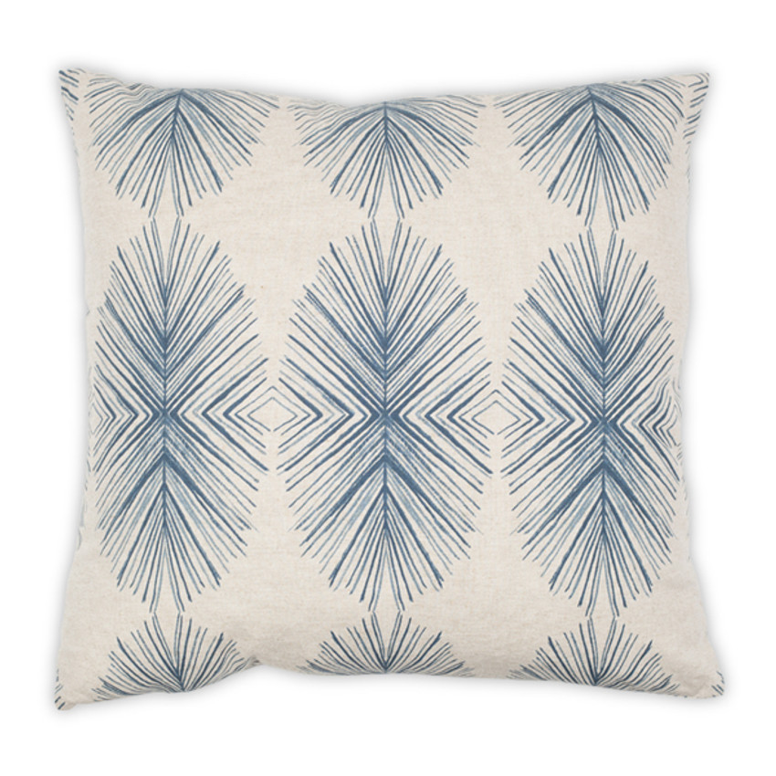 """Moss Home Feathery 22"""" Pillow in Navy, 22"""" throw pillow, accent pillow, decorative pillow"""
