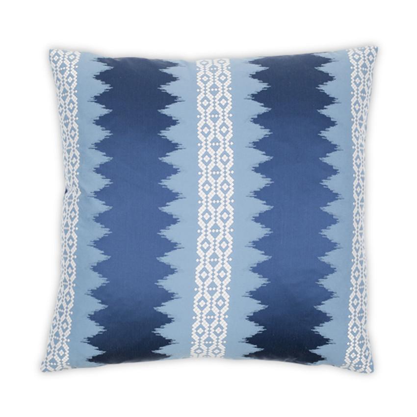 """Moss Home Genevieve 22"""" Pillow in Blue, 22""""  throw pillow, accent pillow, decorative pillow"""