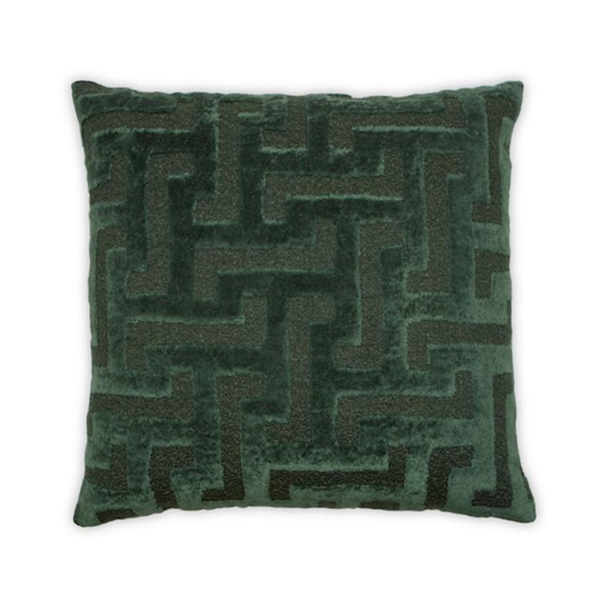 """Moss Home Greek Key 22"""" Pillow in Forest, 22"""" throw pillow, accent pillow, decorative pillow"""