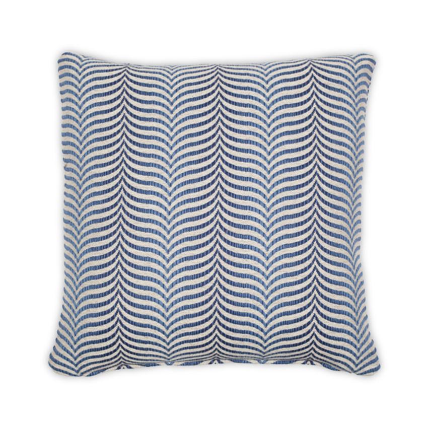 """Moss Home Highland 22"""" Pillow in Blue, 22"""" throw pillow, accent pillow, decorative pillow"""