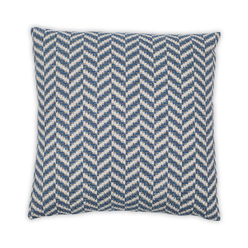 """Moss Home Leo 22"""" Pillow in Blue, 22"""" throw pillow, accent pillow, decorative pillow"""
