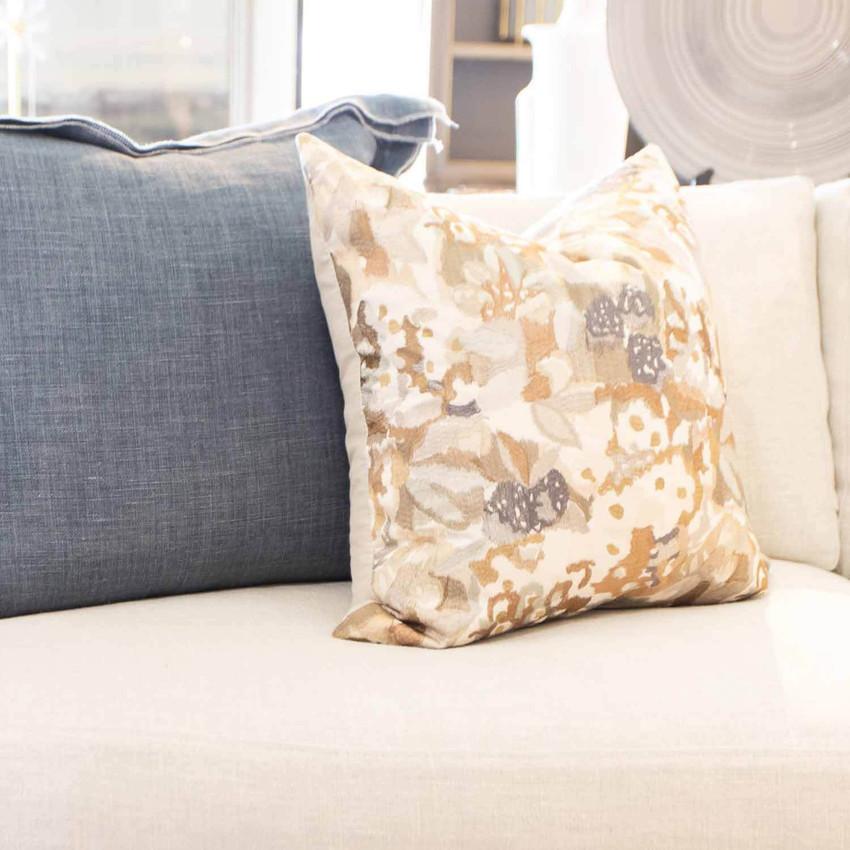 """Moss Home Candice 22"""" Pillow in Linen, 22"""" throw pillow, accent pillow, decorative pillow"""