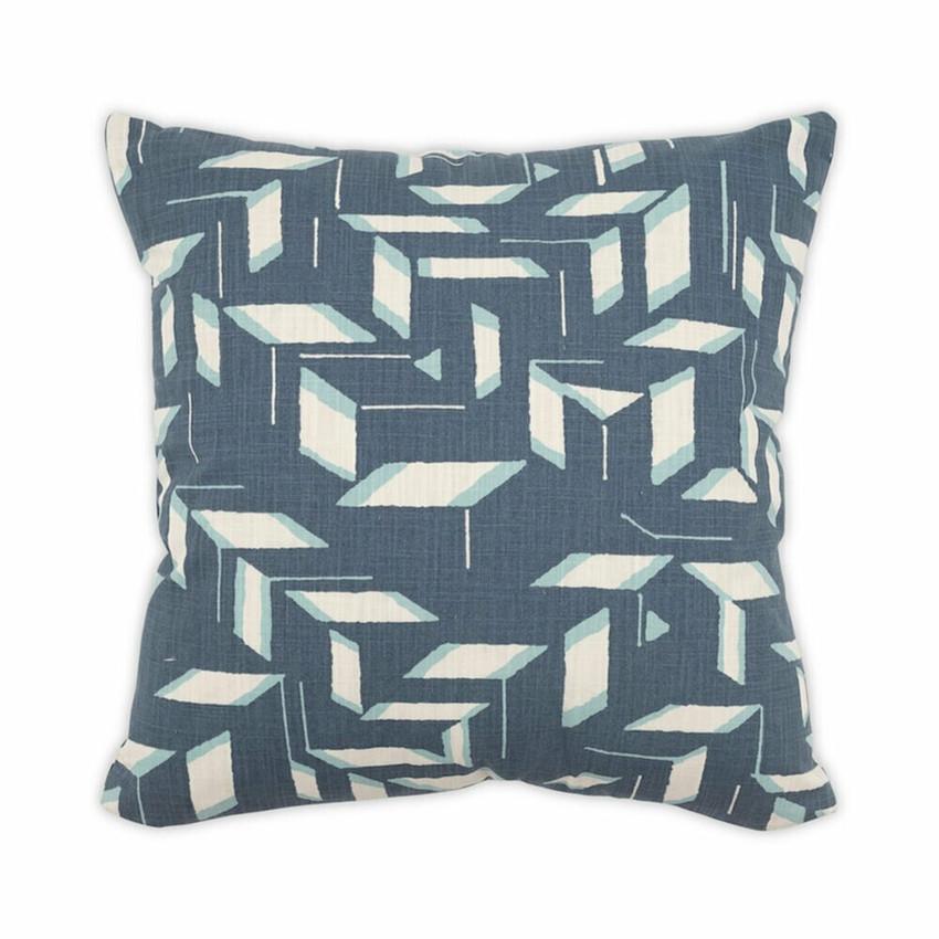 """Moss Home Blades 22"""" Pillow in Denim,  22"""" throw pillow, accent pillow, decorative pillow"""