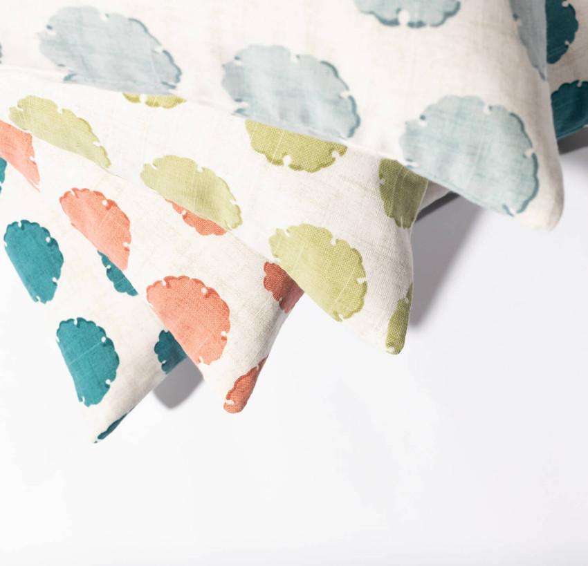 "Moss Home Capri 22"" Pillow in Teal,  22"" throw pillow, accent pillow, decorative pillow"