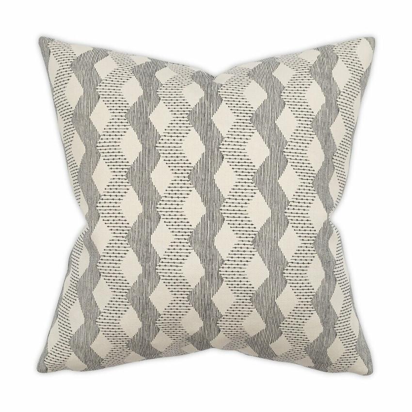 """Moss Home Digital Dash 22"""" Pillow in Black,  22"""" throw pillow, accent pillow, decorative pillow"""