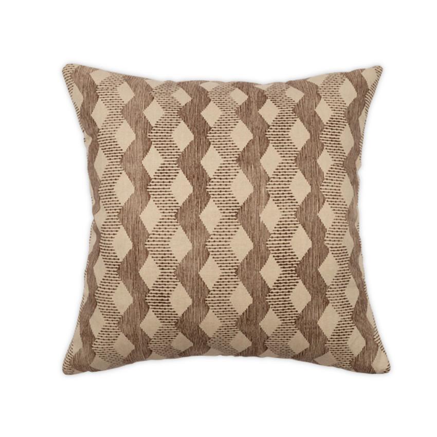 """Moss Home Digital Dash 22"""" Pillow in Brown,  22"""" throw pillow, accent pillow, decorative pillow"""
