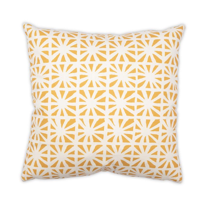 """Moss Home Kaleidoscope 22"""" Pillow in Sun, trend throw pillow, accent pillow, decorative pillow"""