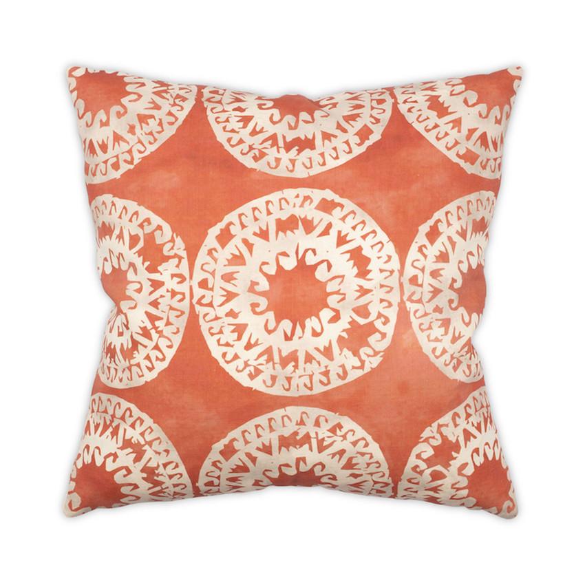 "Moss Home Mandala 22"" Pillow in Pomegranate, 22"" throw pillow, accent pillow, decorative pillow"