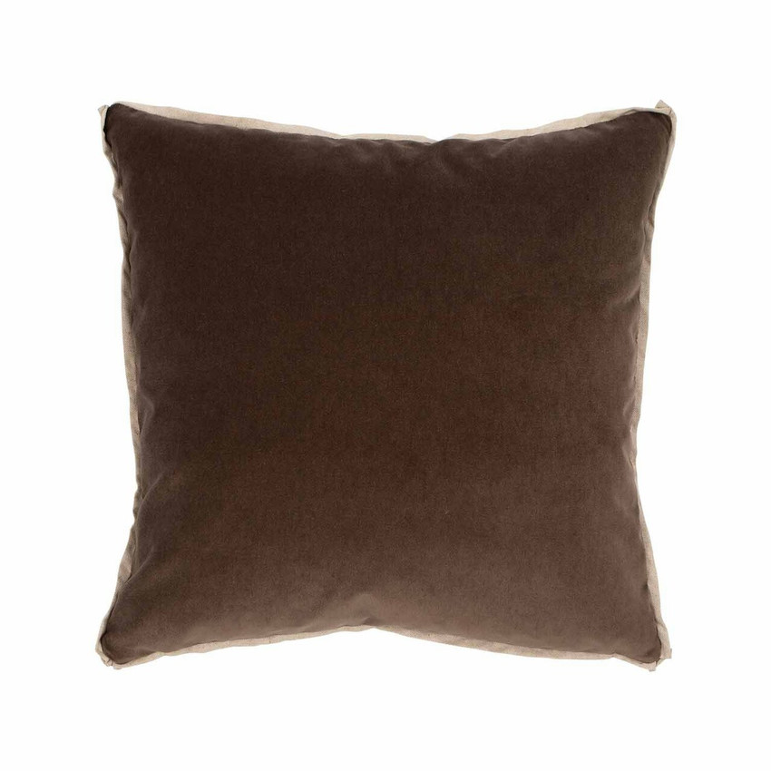 Moss Home Banks Pillow in Cafe, velvet throw pillow, accent pillow, decorative pillow
