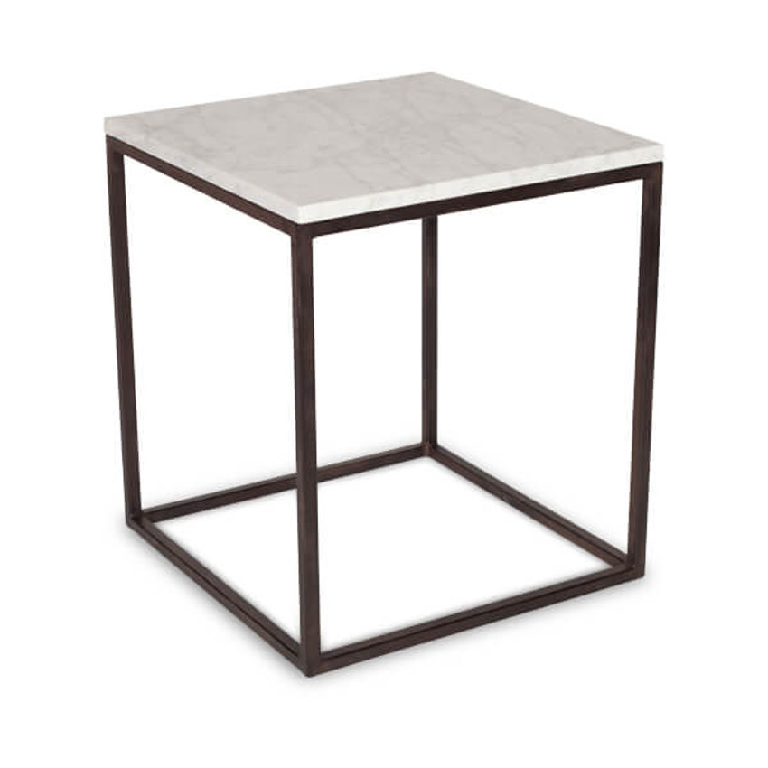 Moss Home - Made in the USA Cube End Table, Moss Studio Cube End Table