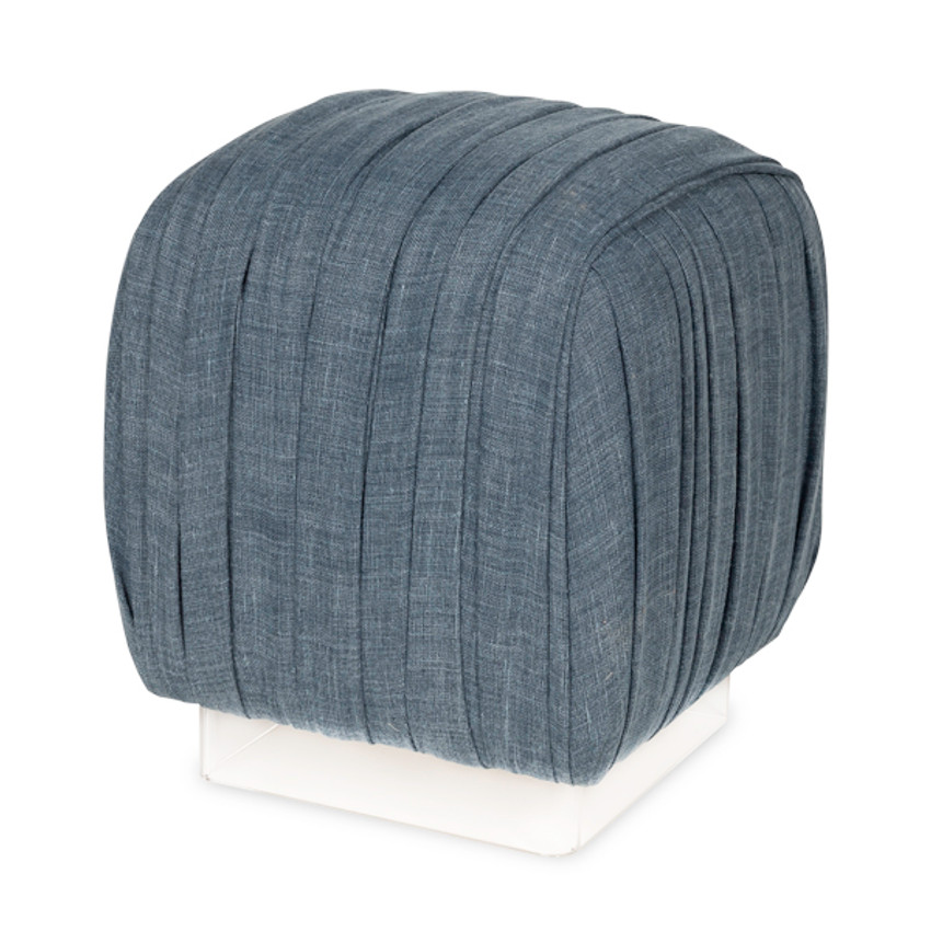 Moss Home - Made in the USA Cosmo Pouf Ottoman, Moss Studio Cosmo Pouf Ottoman