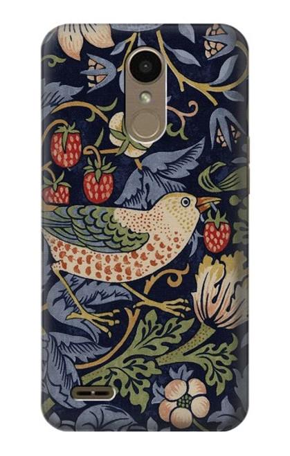 S3791 William Morris Strawberry Thief Fabric Case For LG K10 (2018), LG K30