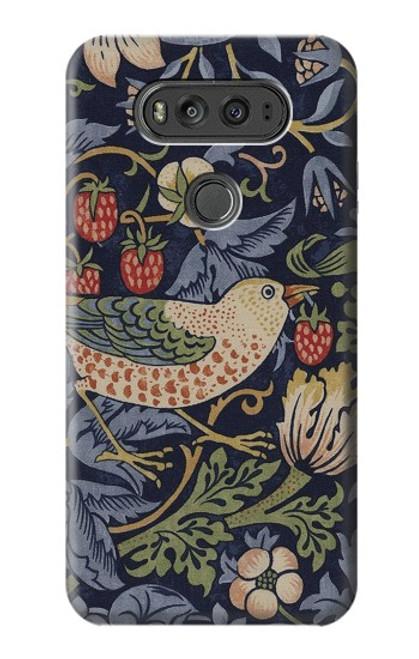 S3791 William Morris Strawberry Thief Fabric Case For LG V20