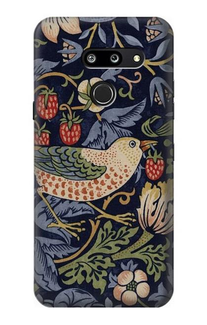S3791 William Morris Strawberry Thief Fabric Case For LG G8 ThinQ