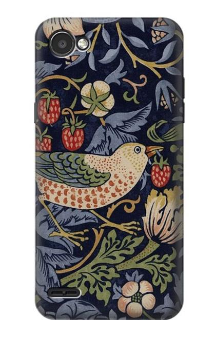 S3791 William Morris Strawberry Thief Fabric Case For LG Q6