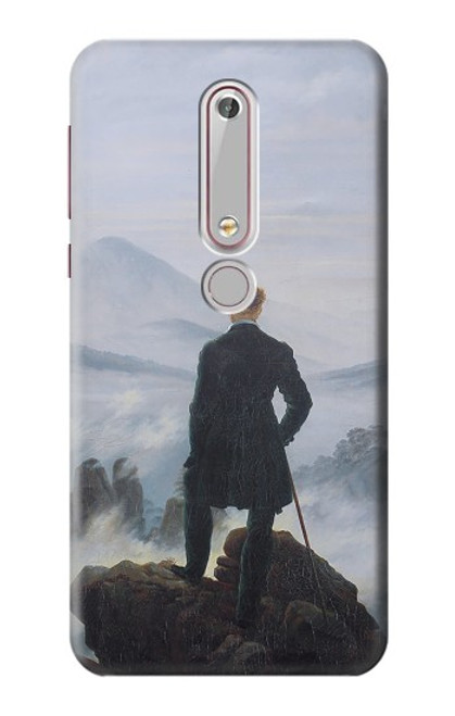 S3789 Wanderer above the Sea of Fog Case For Nokia 6.1, Nokia 6 2018