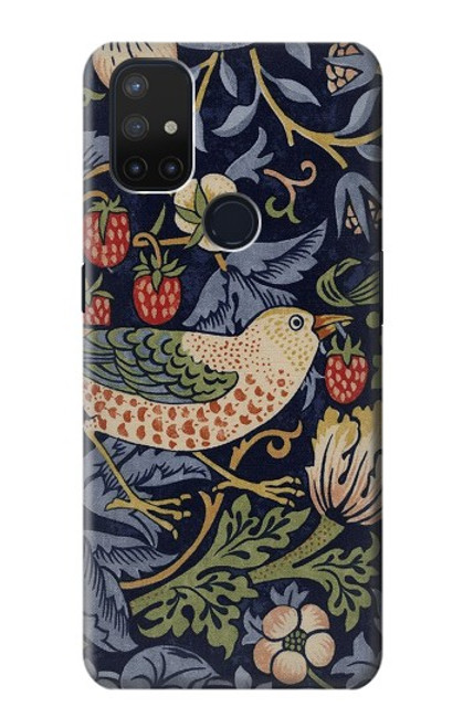 S3791 William Morris Strawberry Thief Fabric Case For OnePlus Nord N10 5G
