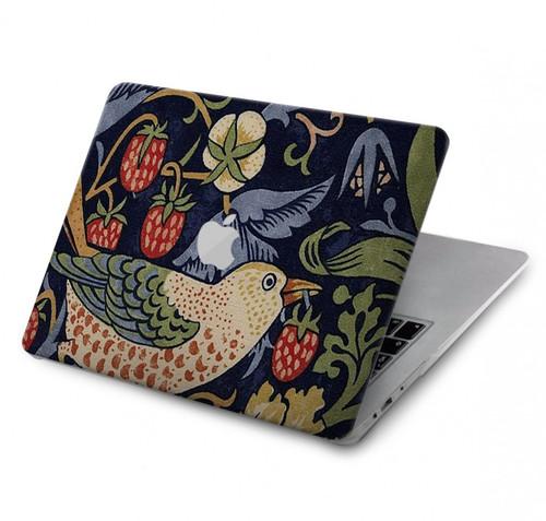 S3791 William Morris Strawberry Thief Fabric Hard Case For MacBook Pro 13″ - A1706, A1708, A1989, A2159, A2289, A2251, A2338