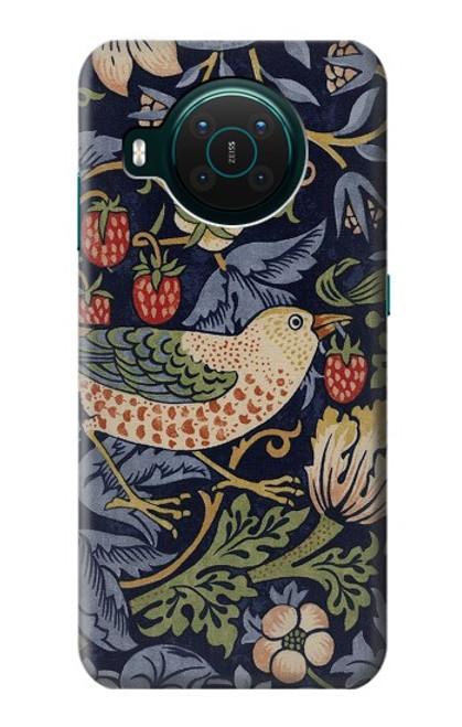 S3791 William Morris Strawberry Thief Fabric Case For Nokia X10