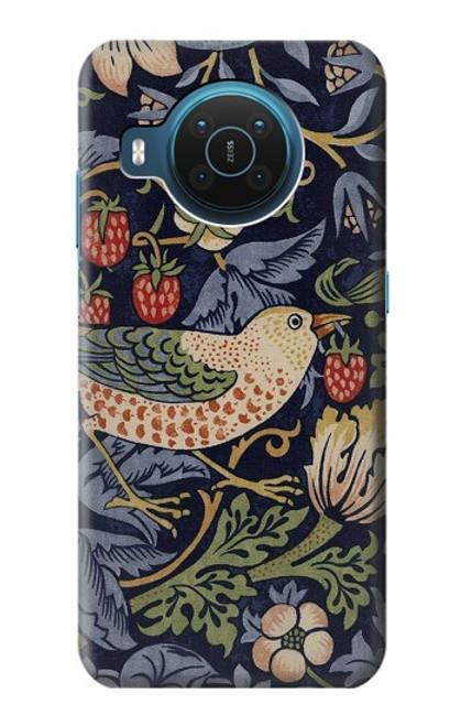 S3791 William Morris Strawberry Thief Fabric Case For Nokia X20