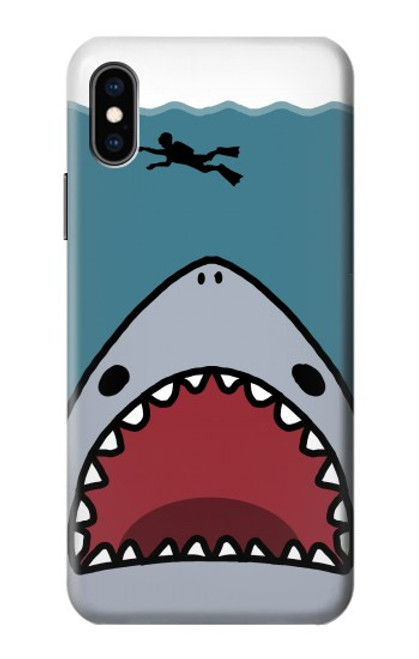 S3825 Cartoon Shark Sea Diving Case For iPhone X, iPhone XS