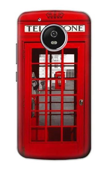 S0058 British Red Telephone Box Case For Motorola Moto G5