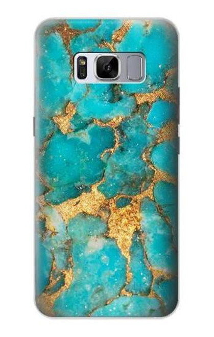 S2906 Aqua Turquoise Stone Case For Samsung Galaxy S8