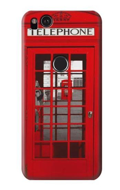 S0058 British Red Telephone Box Case For Google Pixel 2