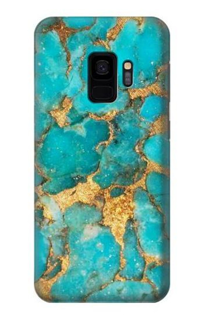 S2906 Aqua Turquoise Stone Case For Samsung Galaxy S9
