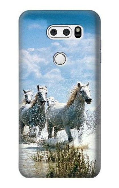S0250 White Horse 2 Case For LG V30, LG V30 Plus, LG V30S ThinQ, LG V35, LG V35 ThinQ