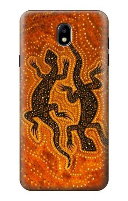 S2901 Lizard Aboriginal Art Case For Samsung Galaxy J7 (2018), J7 Aero, J7 Top, J7 Aura, J7 Crown, J7 Refine, J7 Eon, J7 V 2nd Gen, J7 Star