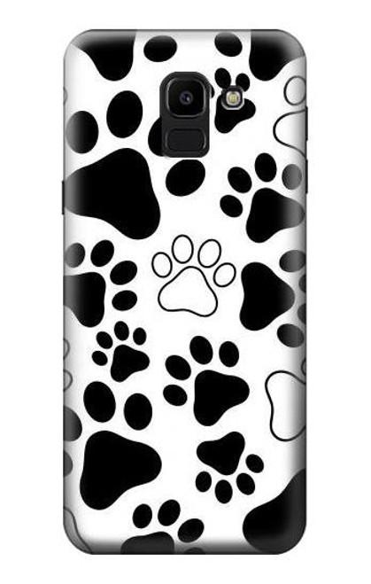 S2904 Dog Paw Prints Case For Samsung Galaxy J6 (2018)