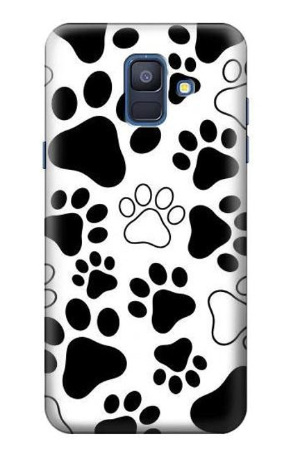 S2904 Dog Paw Prints Case For Samsung Galaxy A6 (2018)