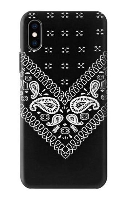 S3363 Bandana Black Pattern Case For iPhone X, iPhone XS