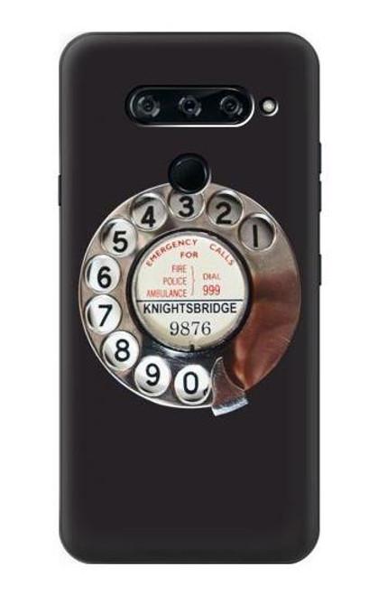 S0059 Retro Rotary Phone Dial On Case For LG V40, LG V40 ThinQ