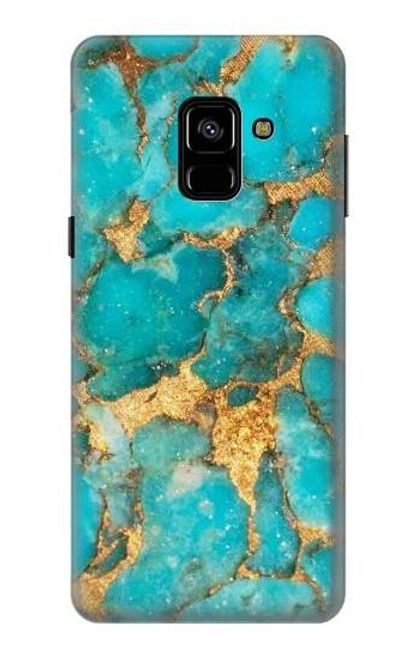 S2906 Aqua Turquoise Stone Case For Samsung Galaxy A8 (2018)