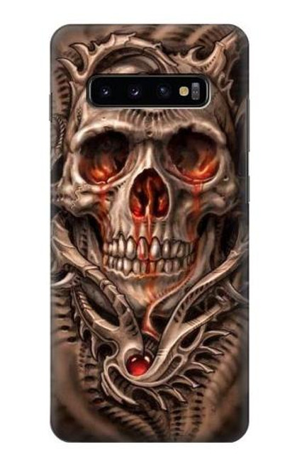 S1675 Skull Blood Tattoo Case For Samsung Galaxy S10 Plus