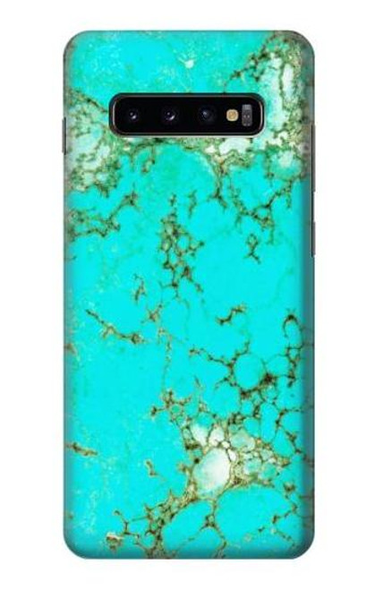 S2377 Turquoise Gemstone Texture Graphic Printed Case For Samsung Galaxy S10 Plus