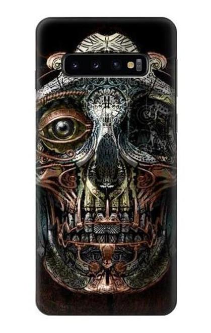 S1685 Steampunk Skull Head Case For Samsung Galaxy S10