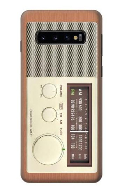 S3165 FM AM Wooden Receiver Graphic Case For Samsung Galaxy S10