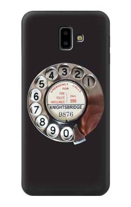 S0059 Retro Rotary Phone Dial On Case For Samsung Galaxy J6+ (2018), J6 Plus (2018)