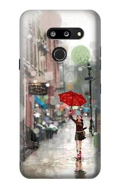 S0108 Girl in The Rain Case For LG G8 ThinQ